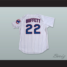 Jimmy Buffett Concert Pinstriped Baseball Jersey Includes Patch
