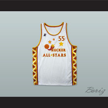 1996 Hot Chile Style Rucker All Stars 55 White Basketball Jersey