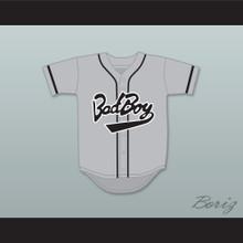 Biggie Smalls 10 Bad Boy Gray Baseball Jersey