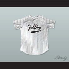 Biggie Smalls 10 Bad Boy Pinstriped Baseball Jersey
