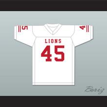 Caleb Grant 45 EMCC Lions White Football Jersey
