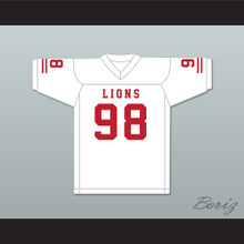 Gary McCrae 98 EMCC Lions White Football Jersey