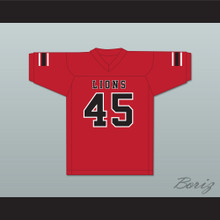 Caleb Grant 45 EMCC Lions Red Football Jersey