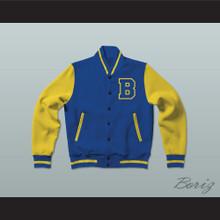 Michael J. Fox Scott Howard Beacon Hills Beavers Varsity Letterman Jacket-Style Sweatshirt Teen Wolf