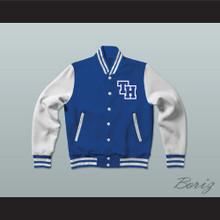 Nathan Scott One Tree Hill Ravens Blue Varsity Letterman Jacket-Style Sweatshirt