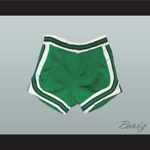 Green Retro Style Basketball Shorts