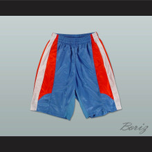 Light Blue Red and White Basketball Shorts