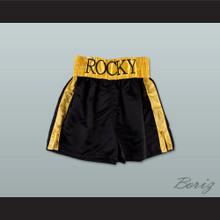 Rocky Balboa Black Boxing Shorts