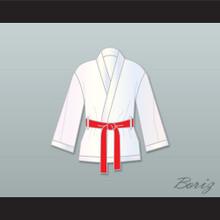 Rocky Balboa White Satin Half Boxing Robe
