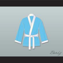 Clubber Lang South Side Slugger Light Blue Satin Half Boxing Robe