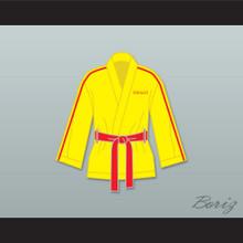 Ivan Drago Russia Yellow Satin Half Boxing Robe