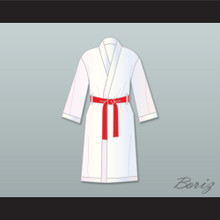Rocky Balboa White Satin Full Boxing Robe