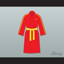 Ivan Drago Russia Red Satin Full Boxing Robe