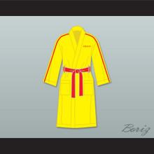 Ivan Drago Russia Yellow Satin Full Boxing Robe