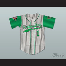 Jarius 'G-Baby' Evans 1 Kekambas Pinstriped Baseball Jersey with ARCHA and Duffy's Patches