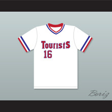 Kevin Costner Crash Davis 16 Tourists Baseball Jersey Bull Durham