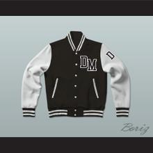 Dirty Money Black Varsity Letterman Jacket-Style Sweatshirt