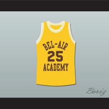 The Fresh Prince of Bel-Air Alfonso Ribeiro Carlton Banks Bel-Air Academy Yellow Basketball Jersey