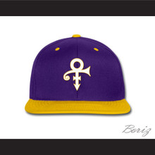Prince Symbol Minnesota Purple/Yellow Baseball Hat