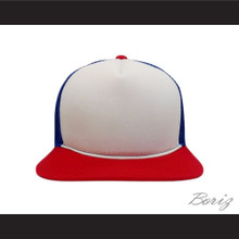 Dustin Henderson Stranger Things Red/White/Blue Trucker Mesh Baseball Hat