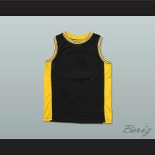 Plain Basketball Jersey Black-Yellow-White