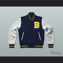 Bel-Air Academy Blue Varsity Letterman Jacket-Style Sweatshirt