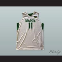Anderson Varejao 11 Brazil Basketball Jersey with Patch