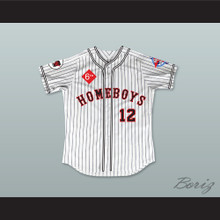 Corbin Bernsen 12 Homeboys Pinstriped Baseball Jersey 6th Annual Rock N' Jock Softball Challenge 1995
