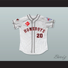 Idalis DeLeon 20 Homeboys Pinstriped Baseball Jersey 6th Annual Rock N' Jock Softball Challenge 1995