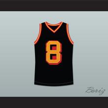 Smallville Clark Kent 8 Black Basketball Jersey