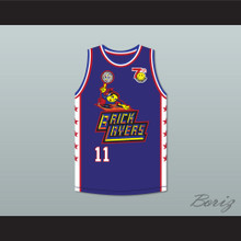 Dean Cain 11 Bricklayers Basketball Jersey 7th Annual Rock N' Jock B-Ball Jam 1997