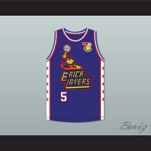 Bill Walton 5 Bricklayers Basketball Jersey 7th Annual Rock N' Jock B-Ball Jam 1997