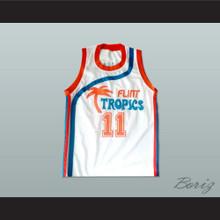 Flint Tropics 11 Ed Monix Basketball Jersey Semi Pro Team New
