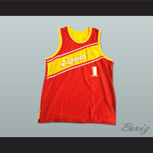 Espana Basketball Jersey Any Player or Number Stitch Sewn