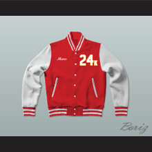 Hooligans 24 K Red and White Varsity Letterman Jacket-Style Sweatshirt