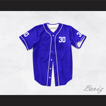 Benny 'The Jet' Rodriguez 30 Blue Dye Sub Baseball Jersey