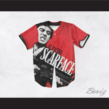 Al Pacino Tony Montana 8 Scarface Red Baseball Jersey