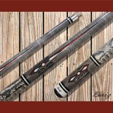 Boriz Billiards Pool Cue Stick Classic Style Serpent Skin AB 138