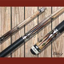 Boriz Billiards Pool Cue Stick Classic Style Black Leather JL 634