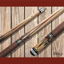 Boriz Billiards Pool Cue Stick Classic Style Brown Serpent Skin JL 639