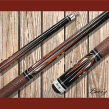 Boriz Billiards Pool Cue Stick Classic Style Brown Serpent Skin JL 70
