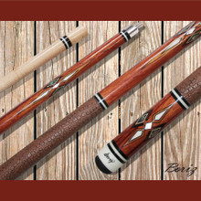 Boriz Billiards Pool Cue Stick Classic Style Brown Serpent Skin JL 404