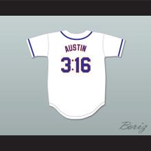 Austin 3:16 New York White Baseball Jersey