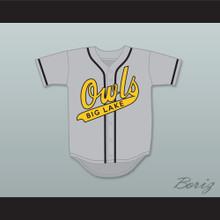 Joaquin 'Wack' Campos 19 Big Lake Owls Away Baseball Jersey The Rookie
