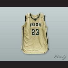 Lebron James Fighting Irish High School Gold Basketball Jersey Stitch Sewn