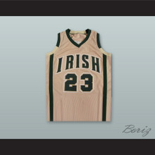 Lebron James Fighting Irish High School Tan Basketball Jersey Stitch Sewn