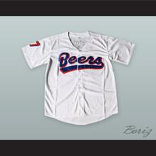 BASEketball Doug Remer 17 Milwaukee Beers Baseball Jersey