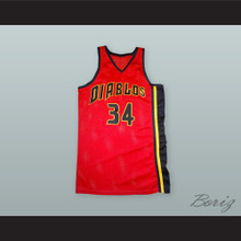 Elliot Richards 34 Diablos Red Basketball Jersey Bedazzled