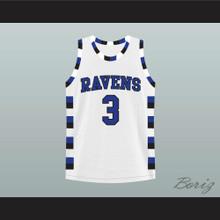 Lucas Scott 3 One Tree Hill Ravens Basketball Jersey