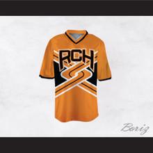 Rancho Carne High School Toros Male Cheerleader Orange Uniform